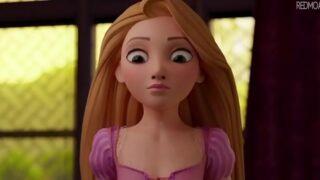 La primera vez de Rapunzel hentai porno