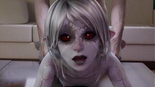 Ver anime online Folla anal Dark Elf Raeza de Skyrim